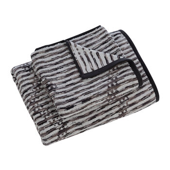 Dot Chevron Towel - Charcoal