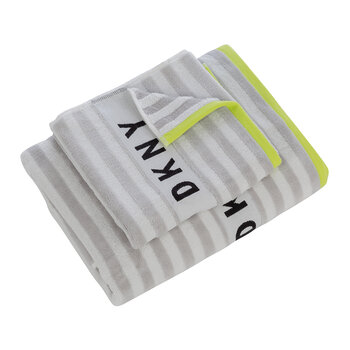 Ticker Tape Logo Towel - White