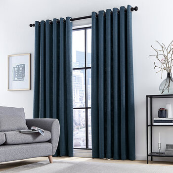 Madison Lined Curtains - Navy