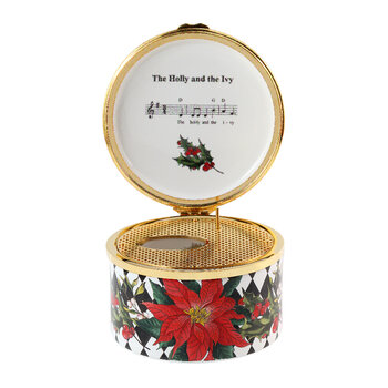 Christmas Parterre Music Box - The Holly & The Ivy