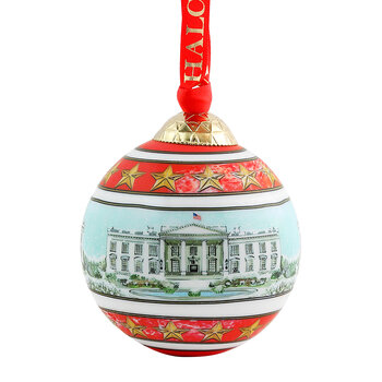 The White House in Snow Bauble