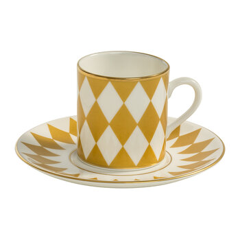 Parterre Coffee Cup & Saucer - Gold