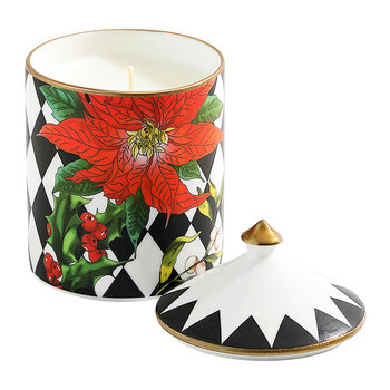 Bougie à Couvercle Parterre Poinsettia - Cannelle & Orange - Noir