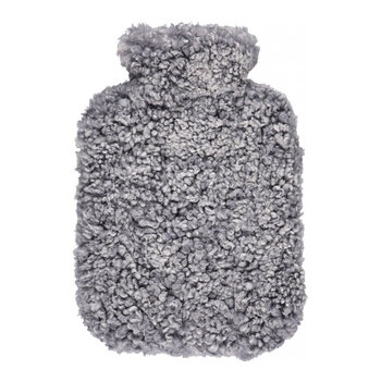 Sheepskin Hot Water Bottle - Light Gray