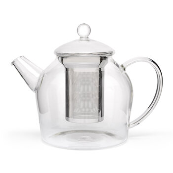 Minuet Teapot with Stainless Steel Filter - Glass