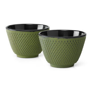 Xilin Cast Iron Cups - Green