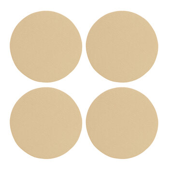 Double Sided Faux Leather Coasters - Set of 4 - Sand