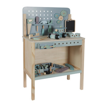 Wooden Toy Workbench with Toolbelt