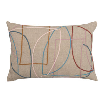 Hepworth Cushion - Multi & Natural