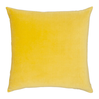 Velvet Linen Pillow - 50x50cm - Chartreuse & Natural