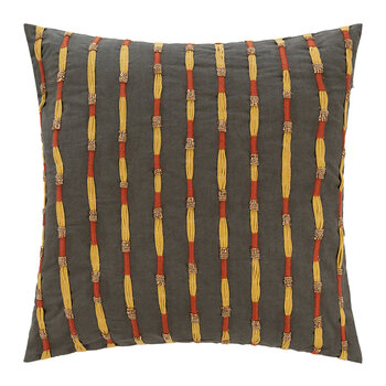 Embroidered Stripe Cushion - 45x45cm