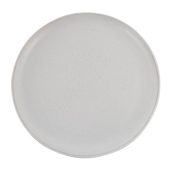 Rustic Look Glazed Dinner Plate - Set of 4 - White