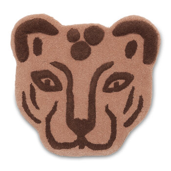 Tufted Leopard Head - Brown