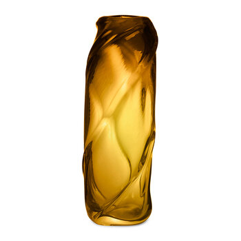 Water Swirl Vase - Tall - Amber