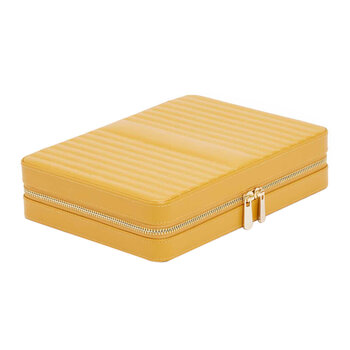 Maria Zip Travel Jewelry Case - Mustard