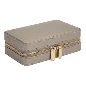 Palermo Zip Jewelry Case - Pewter