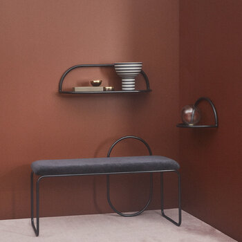 Angui Bench - Black Leather