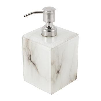 Marble Look Soap Dispenser - White