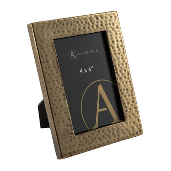 Hammered Photo Frame - Rustic Gold