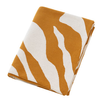 Tiger Print Knitted Throw - 130x170cm