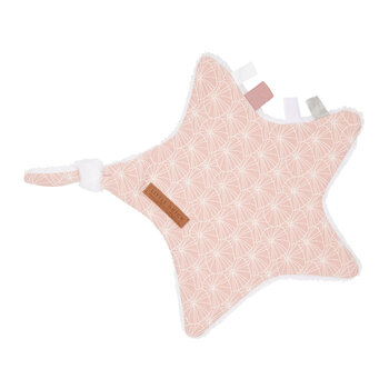 Cuddle Cloth - Star - Lily Leaves - Pink