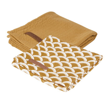 Baby Swaddle - 70x70cm - Sunrise Ochre/Pure Rust