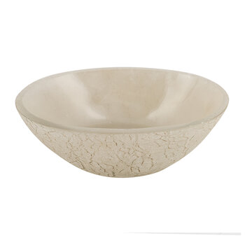 Frosted Glass Soap Dish - Natural