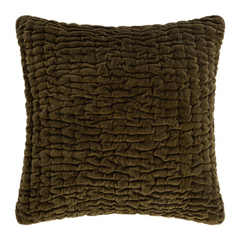 Abstract Quilted Cushion - 45x45cm - Stone