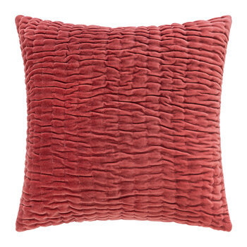 Abstract Quilted Cushion - 45x45cm - Spice