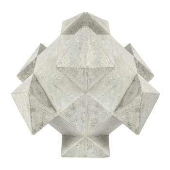Cedric Concrete Ornament - Light Grey - Large