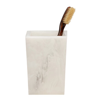 Abiko Brush Holder - Pearl White