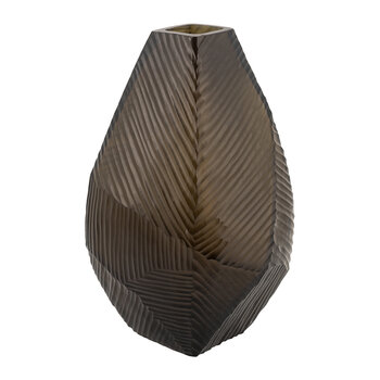 Abstract Scratched Vase - Stone/Taupe