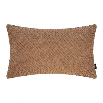 Leather Weave Cushion - 30x50cm - Tan
