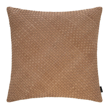 Leather Weave Cushion - 50x50cm - Tan