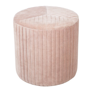 Stripe Quilted Pouf - Mushroom