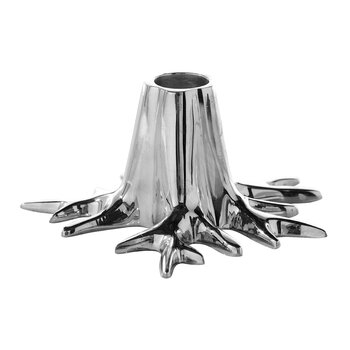 Mini Root Candle Holder - Silver