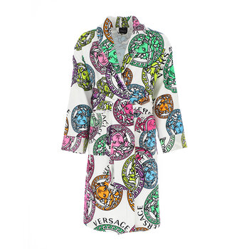 Medusa Amplified Bath Robe - White/Multi