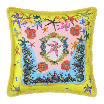 Tresors De La Mer Pillow - 45x45cm - Yellow/Multi