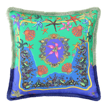 Tresors De La Mer Pillow - 45x45cm - Blue/Multi