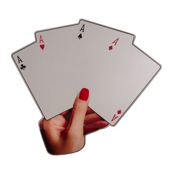 Poker Cards Shaped Mirror