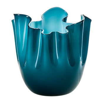 Fazzoletto Bicolore Vase - Medium - Horizon & Aquamarine