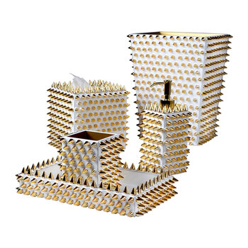 Spikes Waste Bin - Gold