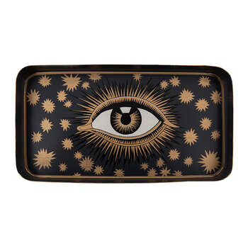 Limited Edition Hand Painted Tray - Black & Gold