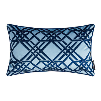 Pagoda Velvet Pillow - 50x30cm - Baby Blue