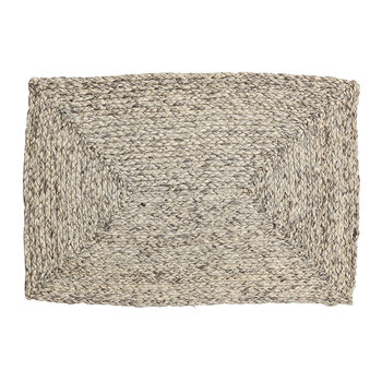 Zoey Raffia Placemat - Mixed Gray