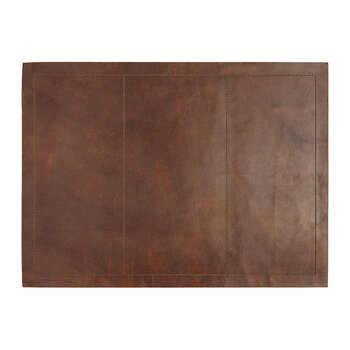 Set de Table Rectangulaire Evan en Cuir - Marron