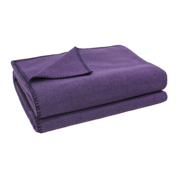 Soft Fleece Blanket - Aubergine