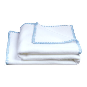 Soft Fleece Baby Blanket - Azur