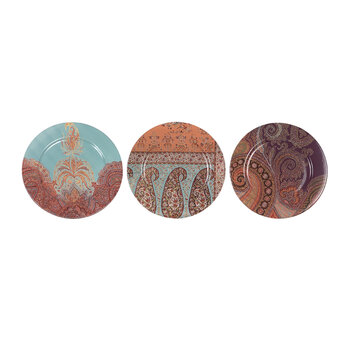 Travel To Rajasthan Plate - Set Of 3 - Patterned
