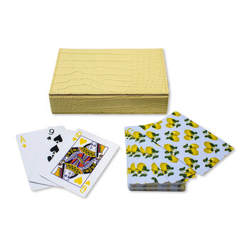 Playing Cards With Box - Lemons